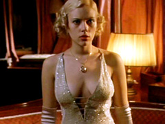 Scarlett Johansson shows her sexy round butt in see through panties