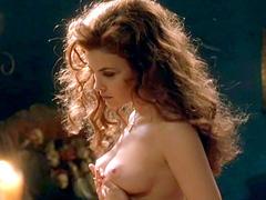 Sherilyn Fenn reveals her creamy tits,..
