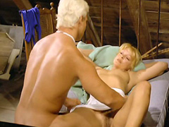 Nadine Pascal naked exposing her bush and tempting guy