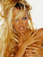 Sexy model Pamela Anderson howing her..