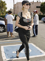 Paparazzi photos of Paris Hilton..