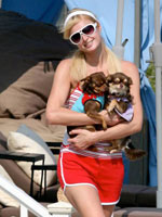 Scandalous photos of star Paris Hilton