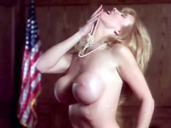 Nude Peggy Trentini exposes huge boobs