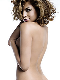 Eva Mendes posing fully bare be..