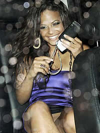 Christina Milian fantastic arse in blue..