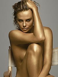 Charlize Theron posing nude and in sexy..