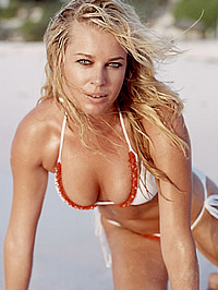 Rebecca Romijn see-through and topless..