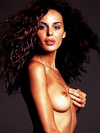 Nina Moric go-go and see-through panties