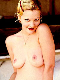 Drew Barrymore shows her nice tits and..