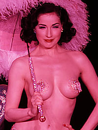 Dita Von Teese cleavage & topless on..