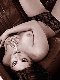 Asia Argento fully nude showing bushy..