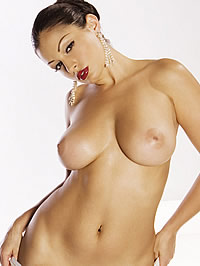 Aria Giovanni shows her big boobs and..
