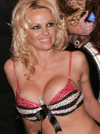 Pamela Anderson exposing her huge melons