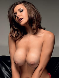Imogen Thomas showing her amazing big..