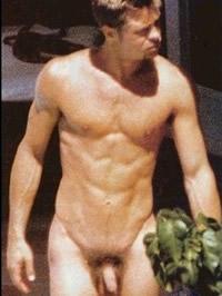 Brad Pitt exposing his big cock