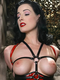 Dita Von Teese eposing her big boobs..