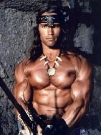 Arnold Schwarzenegger shows his amazing..