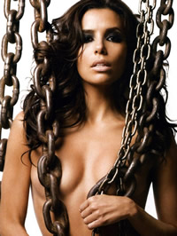 Eva Longoria shows her astounding bared..