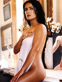 Salma Hayek nude and paparazzi shots