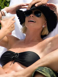 Jaime Pressly paparazzi bikini shot and..