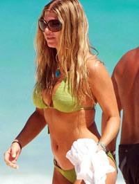 Stacy Ferguson caught sun tanning in..
