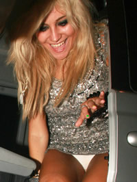 Sexy singer Pixie Lott upskirt pictures