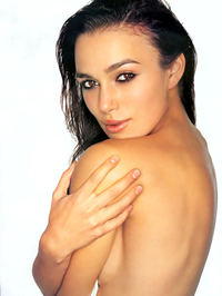 Keira Knightley sexy posing and topless..