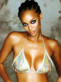 Tyra Banks sexy posing in hot bikinis