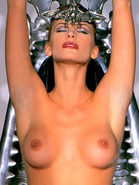 Natasha Henstridge loves to feign her..