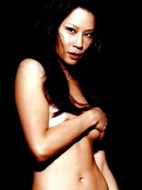 Lucy Liu shows her small tits and nice..