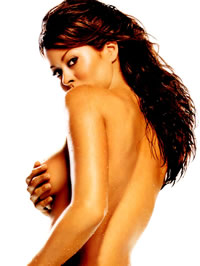 Brooke Burke shows her big boobs and..