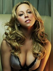 Mariah Carey with bated breath lusty in..