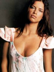Adriana Lima is modeling lingerie for you.
