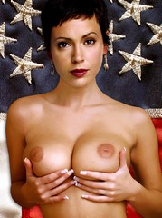 Alyssa Milano in surprising fake nudes.