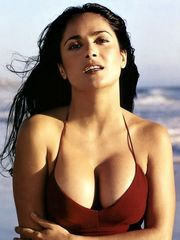 Sexy Salma Hayek teases us with her big..