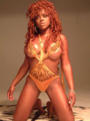 Pictures of Lil Kim in her various sexy..