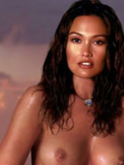 Asian Hollywood dignitary Tia Carrere..