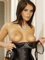 Former Spice Girl Victoria Beckham nude..