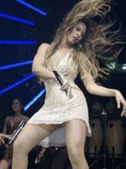 Singer Beyonce Knowles camel toe