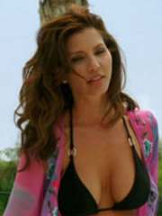 Charisma Carpenter flaunts her curves..