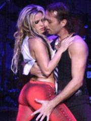 Action shots of the hip shaking Shakira..