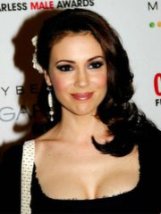 Sexy Alyssa Milano bares the brush hot..