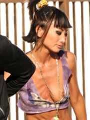 Asian celeb Bai Ling is all game..