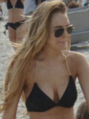 Take a look at Lindsay Lohan's bikini..