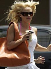 Busty blonde Pamela Anderson in bikini..