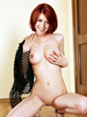 Alyson Hannigan finally bares her..