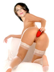 Marina Sirtis exposing her big juicy..