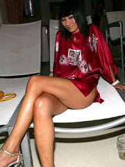 Bai Ling looks very nasty as she poses..