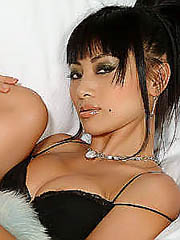 Bai Ling hot tight body in black lingerie