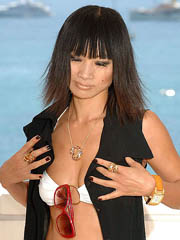 Bai Ling oops flashes off boob slip
